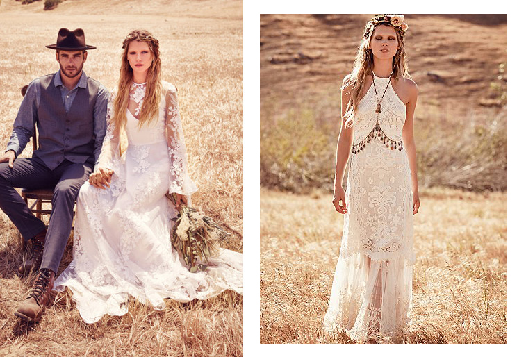 Free people robes de mari e hippie pour un look coachella funky wedding - Style baba cool chic ...