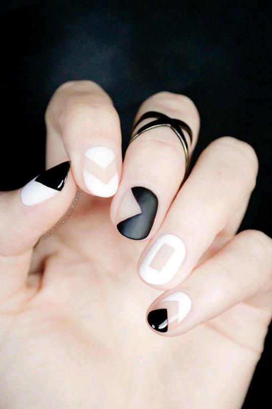 vernis-noir-et-blanc-mariée-funky
