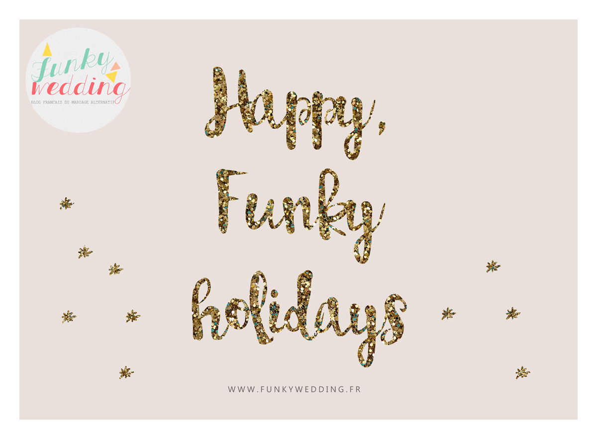 Happy Funky Holidays - funky wedding