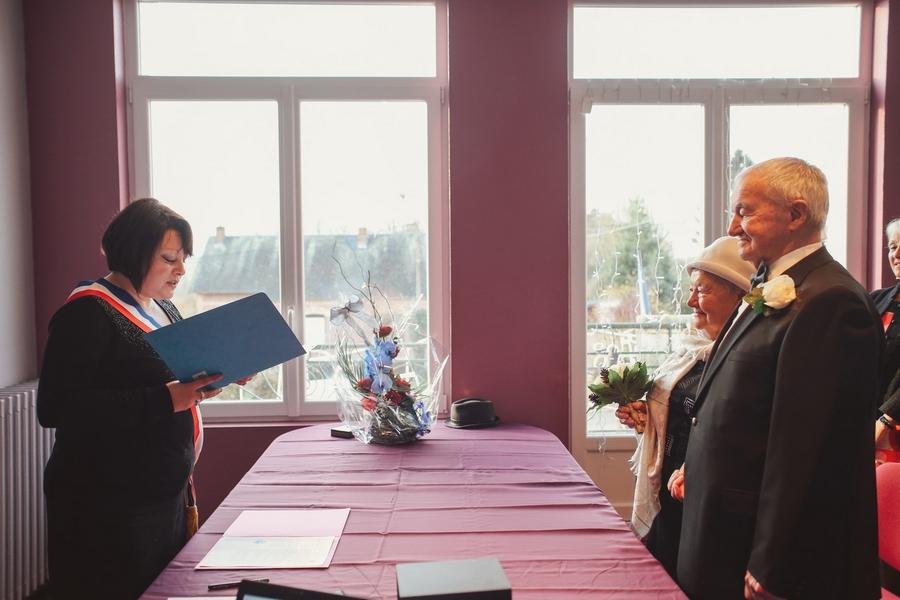 cérémonie mairie après 60 ans de mariage