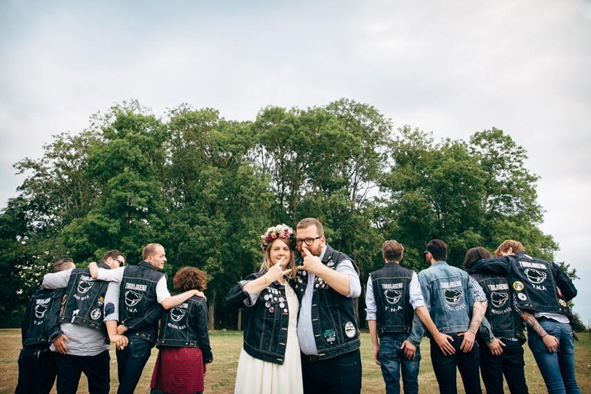 mariage badass mariés tatoués